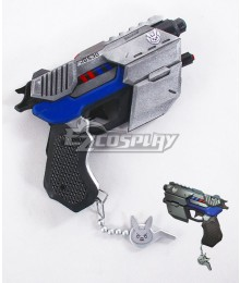 Overwatch OW D.Va DVa Hana Song Officer Gun Cosplay Weapon Prop