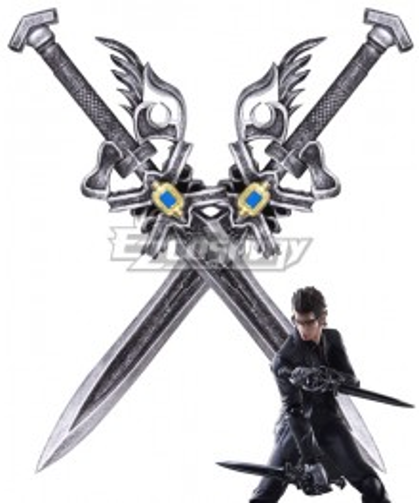 Final Fantasy XV Ignis Stupeo Scientia Double Sword Cosplay Weapon Prop