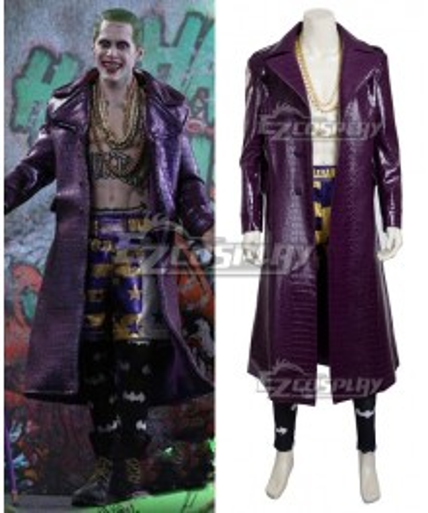 DC Detective Comics Batman Suicide Squad Task Force X Joker 2016 Movie Cosplay Costume-Updated Version
