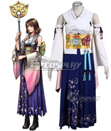 Final Fantasy X FF10 Yuna Cosplay Costume - Deluxe Version