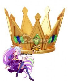 No Game No Life Shiro Imperial Crown Gold Cosplay Accessory Prop
