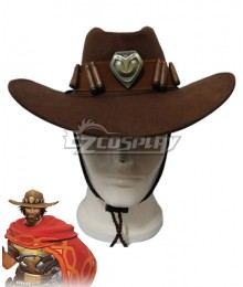 Overwatch OW Jesse McCree Hat Cosplay Accessory Prop