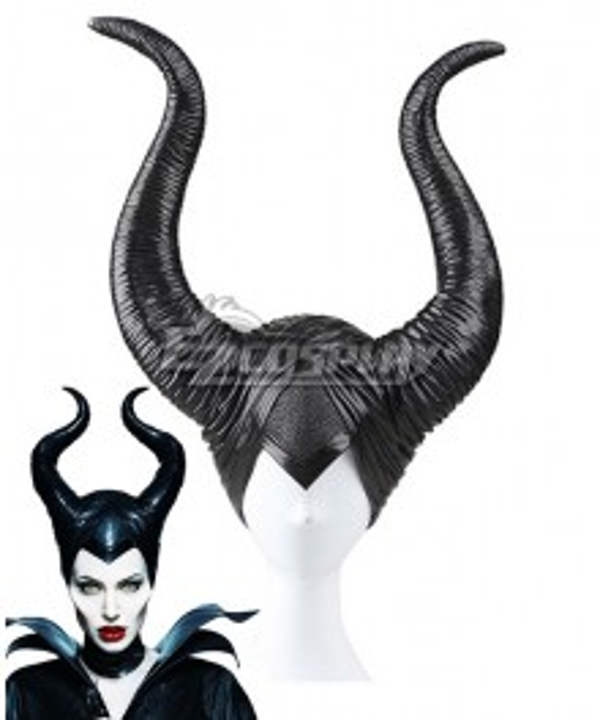 Disney Maleficent Movie Black Witch Angelina Jolie Headwear Cosplay Accessory Prop