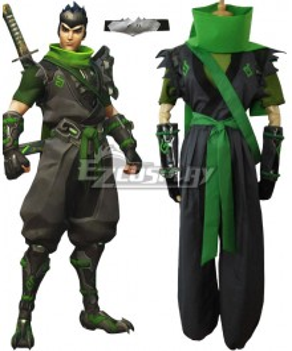 Overwatch OW Sparrow Genji Cosplay Costume