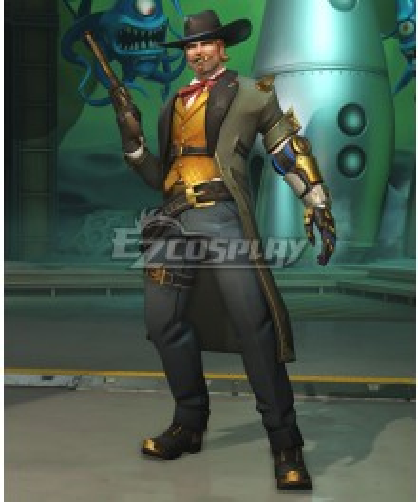 Overwatch OW Jesse McCree Gambler Cosplay Costume