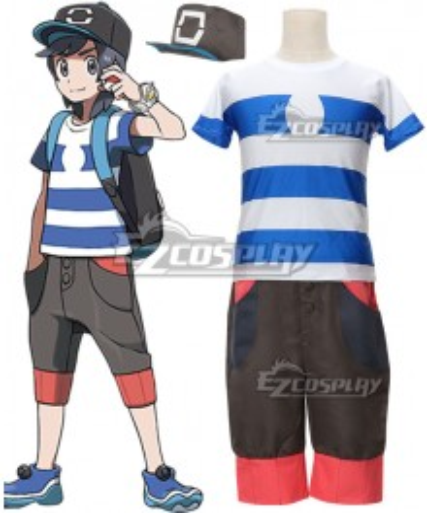 Pokemon Sun and Moon Hero Elio Cosplay Costume