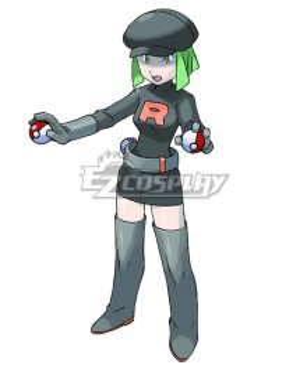 Pokemon Team Rocket Grunt Female Cosplay Costume - B Edition