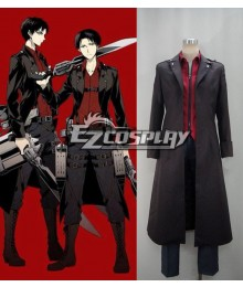 Attack on Titan Shingeki no Kyojin Survey Corp Eren & Levi & Mikasa Wings of Counterattack Online Cosplay Costume