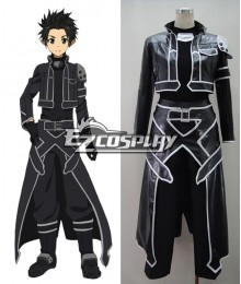 Sword Art Online ALfheim Online Kirito Leather Cosplay Costume