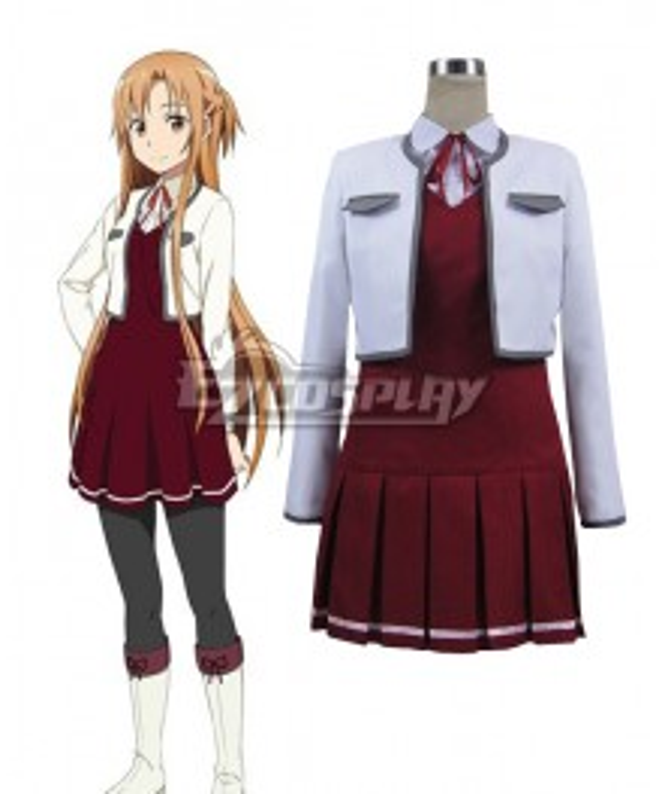 Sword Art Online Hollow Fragment Yuuki Asuna  Casual Cloth Cosplay Costume