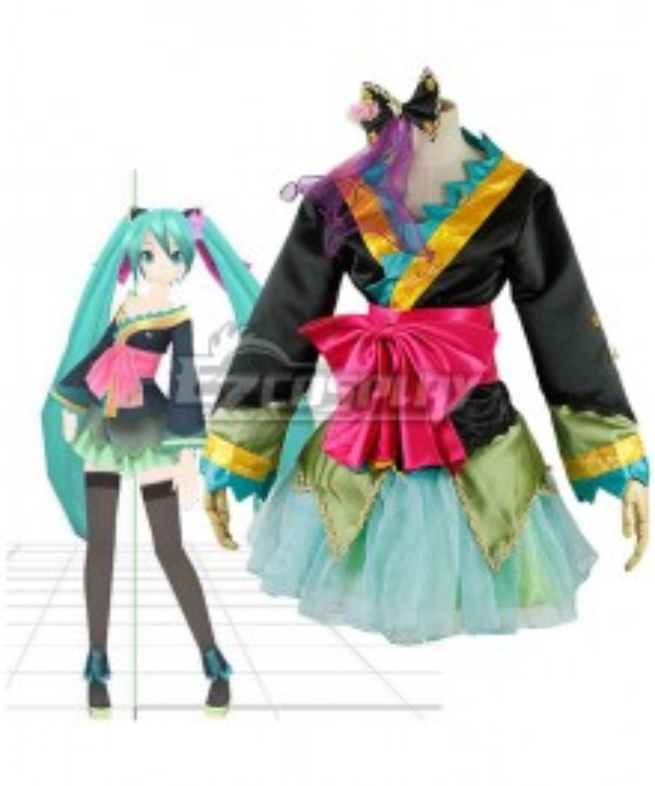 Vocaloid Oiran Hatsune Miku Wafuku Kimono Cosplay Costume