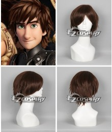 How To Train Your Dragon 2 Hiccup Brown Short Wig Cosplay Wig
