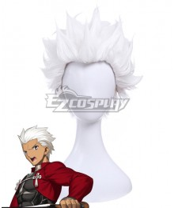 Fate Stay Night Emiya Shirou White Cosplay Wig