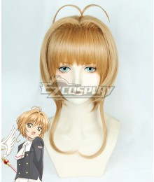 Cardcaptor Sakura: Clear Card Sakura Kinomoto Golden Orange Cosplay Wig