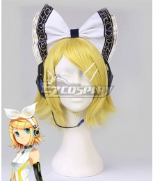 Vocaloid Kagamine Rin Yellow Cosplay Wig - Headwear Not Included
