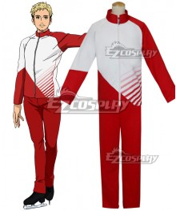 Yuri on Ice YURI!!!on ICE Giacometti Christophe Sportswear Suit Outfit Cosplay Costume - B Edition