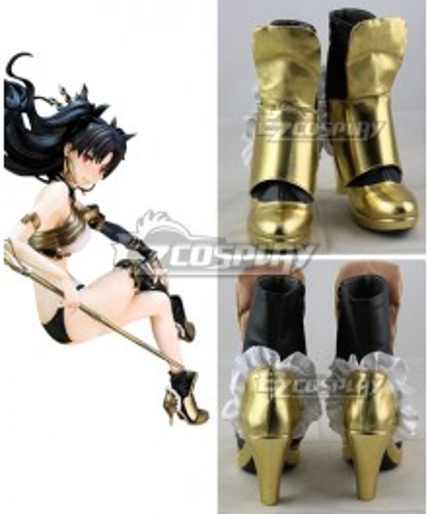 Fate Grand Order Archer Ishtar Rin Tohsaka Golden Cosplay Shoes