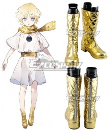 Fate Grand Order FGO Voyager Little Prince Golden Shoes Cosplay Boots