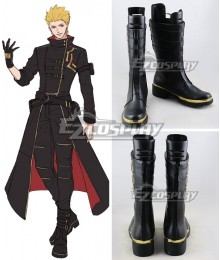 Fate Grand Order Gilgamesh in NY Black Shoes Cosplay Boots