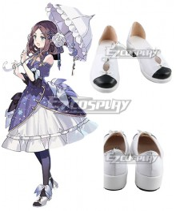 Fate Grand Order Rider Leonardo Da Vinci Gauntlets Shanghai 2019 White Cosplay Shoes