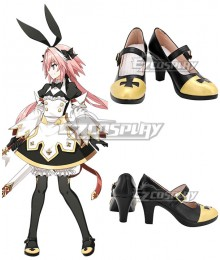Fate Grand Order Saber Astolfo Black Maid Black Cosplay Shoes