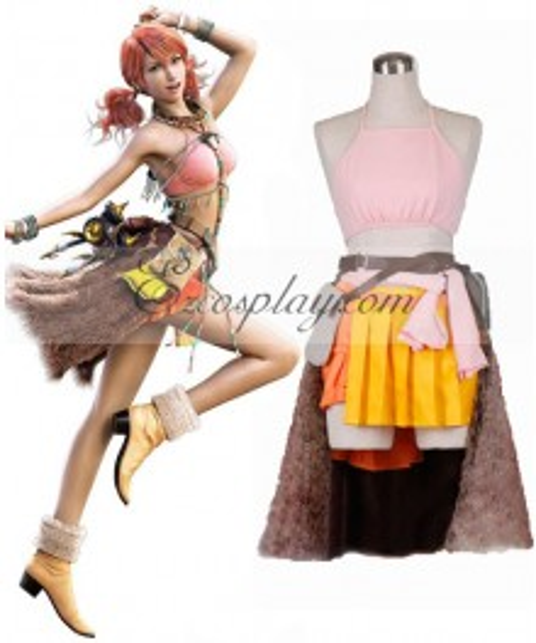 Final Fantasy XIII 13 Oerba Dia Vanille Cosplay Costume