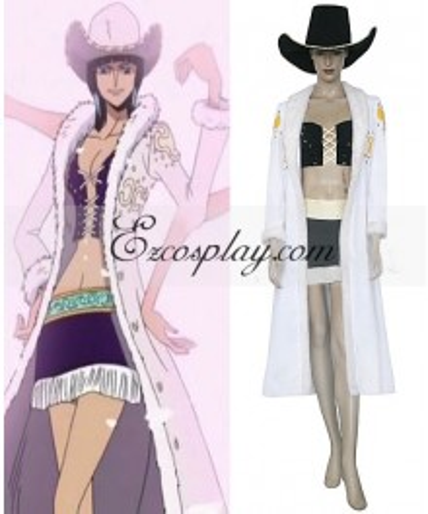 One Piece Nico Robin White Cosplay Costume