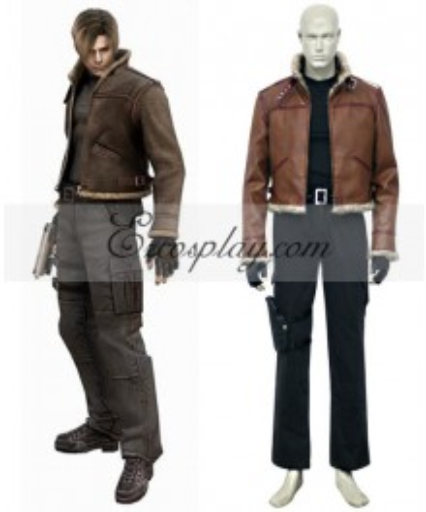 Resident Evil 4 Game Leon Scott Kennedy Cosplay Costume-Size Medium