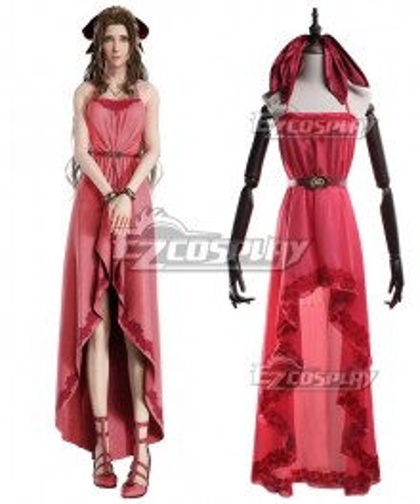 Final Fantasy VII Remake FF7 Aerith Gainsborough Pink Cosplay Costume