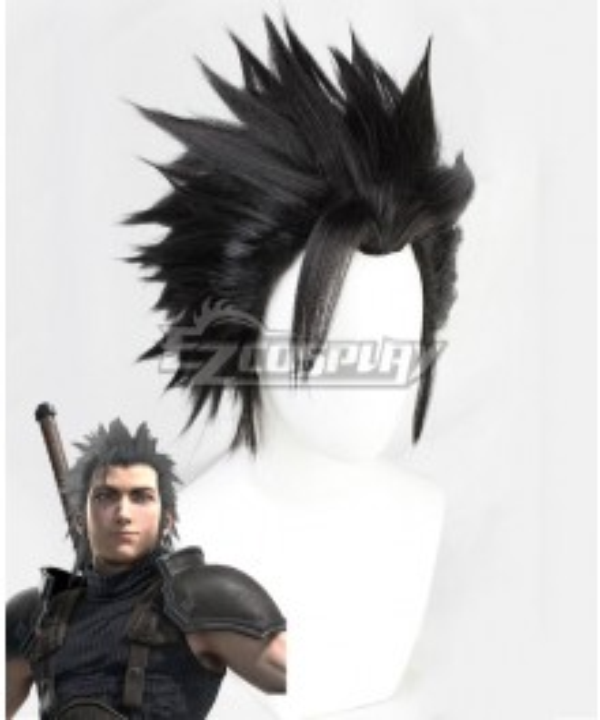 Final Fantasy VII Remake FF7 Zack Fair Black Cosplay Wig