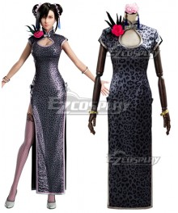 Final Fantasy VII Remake Tifa Lockhart Sporty Cheongsam Cosplay Costume