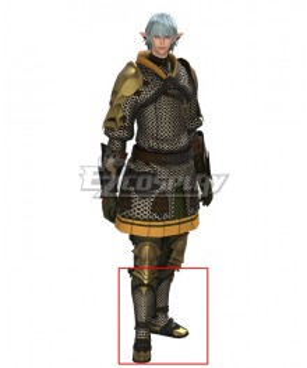 Final Fantasy XIV FF14 Haurchefant Greystone Gray Shoes Cosplay Boots