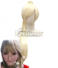 Final Fantasy XIV FF14 Lyse Hext Light Golden Cosplay Wig