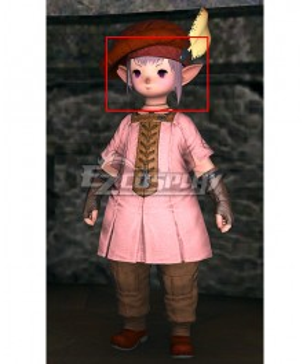 Final Fantasy XIV Tataru Taru Purple  Cosplay Wig