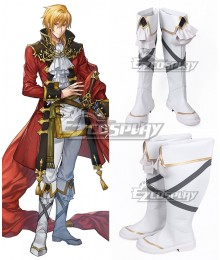 Fire Emblem: Seisen No Keifu Eltshan White Shoes Cosplay Boots