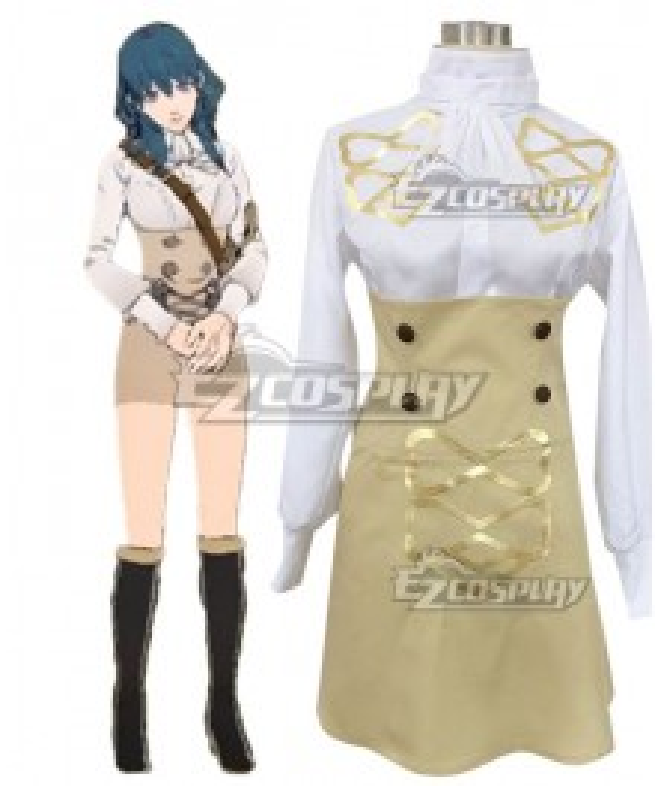 Fire Emblem Three Houses DLC Byleth Alternate Uniforms Female Summer Wear Cosplay Costume