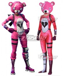 Fortnite Battle Royale Cuddle Team Leader Spandex Jumpsuit Halloween Cosplay Costume