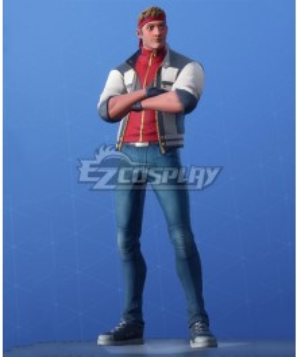 Fortnite Battle Royale Running Man Cosplay Costume