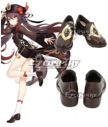 Genshin Impact Hu Tao Black Cosplay Shoes