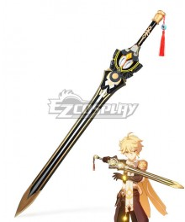Genshin Impact Kaeya Traveler Jean Keqing Qiqi Xingqiu Prototype Rancour Sword Cosplay Weapon Prop