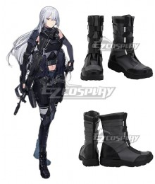 Girls' Frontline AK15 Black Shoes Cosplay Boots