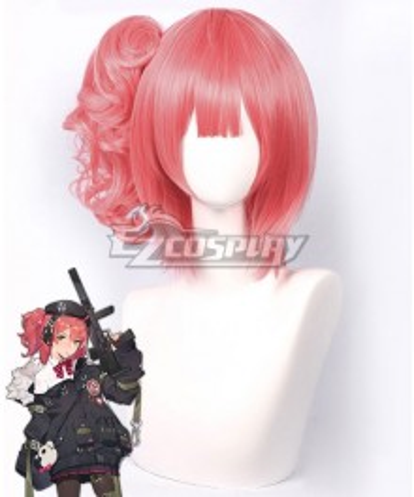 Girls' Frontline Heckler & Koch Maschinenpistole 7 MP7 Dark Pink Cosplay Wig