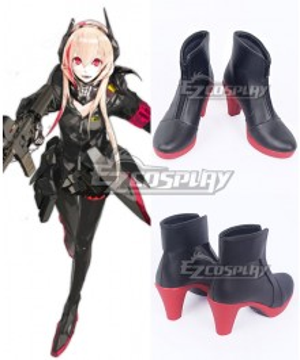 Girls Frontline SOPMOD M4 Black Red Cosplay Shoes