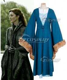 Game of Thrones House Stark of Winterfell Catelyn Tully Cosplay Costume