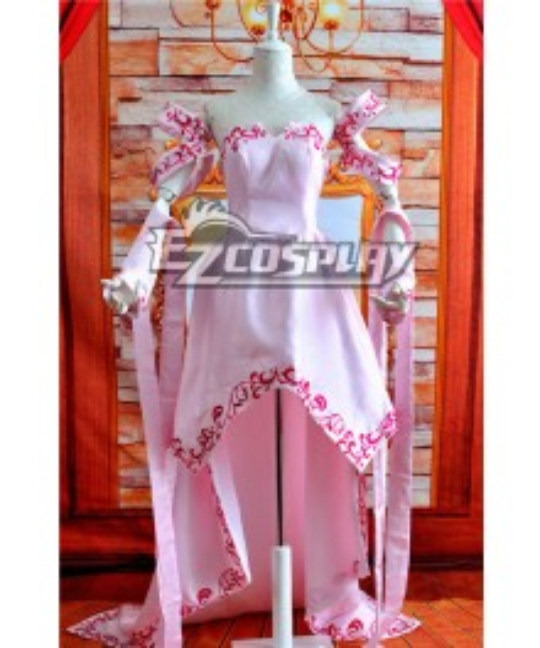 Mobile Suit Gundam SEED Lacus Clyne Cosplay Anime Costume-Y502