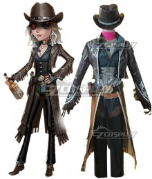 Identity V Barmaid Demi Bourbon Black Rose Halloween Cosplay Costume