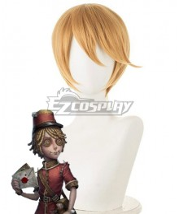 Identity V Postman Victor Grantz Halloween Golden Cosplay Wig