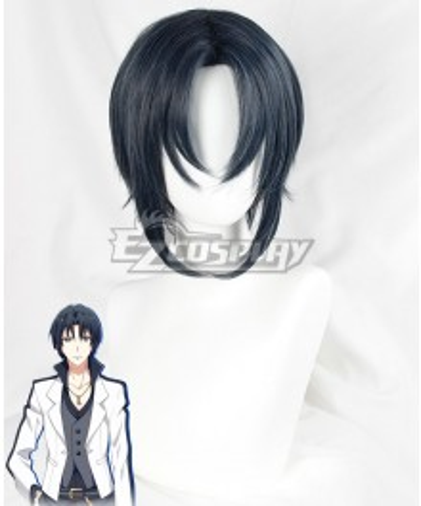 Idolish 7 Iori Izumi Black Blue Cosplay Wig