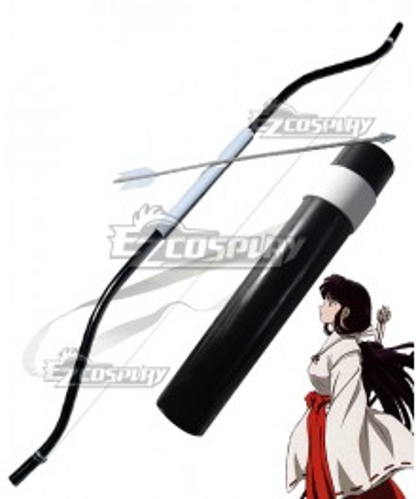 Inuyasha Kikyo Kagome Higurashi Bow Arrow and Quiver Cosplay Weapon Prop