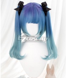 Japan Harajuku Lolita Series Little Witch Blue Cosplay Wig - Not Included Headwear